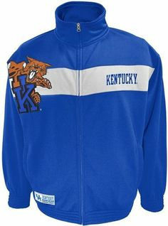 Discount Kentucky Victory March Full Zip Colorblocked Track Jacket - Large Big Discount - http://buynowbestdeal.com/35583/discount-kentucky-victory-march-full-zip-colorblocked-track-jacket-large-big-discount/?utm_source=PN&utm_medium=pinterest&utm_campaign=SNAP%2Bfrom%2BCollege+Memorabilia%2C+NCAA+Sports+Memorabilia - Jackets