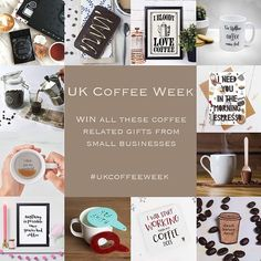 Today sees the start of UK Coffee Week a week of recognition for all things coffee!  . To celebrate weve teamed up with a whole host of brilliant small businesses to offer one lucky winner the chance to get their hands on all these amazing goodies! WOOP!! And heres what you could win- . - Couples coffee gift set by @perkulatte - Espresso martini bar by @theslabb - I Bloody Love Coffee print (unframed) by @tea.onesugar - Personalised Coffee Comes First mug by @xoxogiftsuk - Coffee is always a…