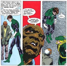 A tough question about racial relations is brought up in this Green Lantern comic.