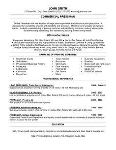 Click here to download this travel agent resume template http click here to download this commercial pressman resume template http yelopaper Image collections