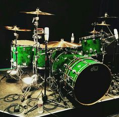 DW Drums. Not sure how I feel about the bass extension as I'd rather have a kick drum of that length than in two parts, but love the finish!!!