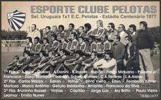 HISTÓRIA DO E.C.PELOTAS-RS: GRANDES JOGOS - PELOTAS X SELEÇÃO URUGUAIA - 1X1