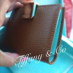 💯Authentic Tiffany & Co Brown leather card holder Brand new, never been used. Come with dust bag and box. Tiffany & Co. Bags
