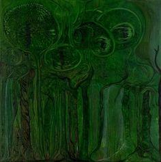 Floresta Uterina Oil on canvas 70×70 2013 Paintings, Canvas, Art, Woodland Forest, Tela, Art Background, Paint, Painting Art, Kunst