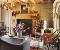 Ancient cottage interior