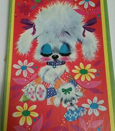 50s POODLE PUZZLE SLEEPYHEAD Cute Kitsch Poodles Bows Mom &