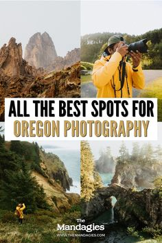 Are you a photographer traveling to the Pacific Northwest? We're sharing the best Oregon photography locations to visit during your next trip, including everything from waterfalls, the Oregon Coast, Owyhee Wilderness, Oregon badlands, the Cascade Mountains, and so much more! #oregon #photoraphy #oregoncoast #photo #landscapephotography Landscape Photography, Travel Photography, Cascade Mountains, Cannon Beach, Oregon Coast, Travel Aesthetic, Pacific Northwest, Dream Vacations, British Columbia