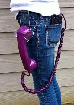 Teléfono móvil retro.