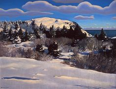 Maine Headland. Winter