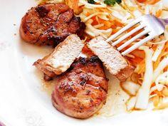 Muschiulet fraged si suculent, preparat la tigaie, o reteta rapida si gustoasa, gata in 20 de minute. 30 Minute Meals, Good Food, Meat, Chicken, Cooking, Olympus, Digital Camera, Buffet, Pork