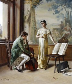 ♪ The Musical Arts ♪ music musician paintings - Karl Zewy | Studying the master
