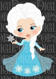 PRINCESA de nieve color Digital Clip Art Set  personales y Baby Disney, Disney Princess, Anna Disney, Elsa Pictures, Princess Coloring, Princess Drawings, Elsa Frozen, Disney Frozen, Frozen Birthday