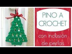 Pino de navidad a crochet con inclusión de perlas - YouTube Crochet Stitches Patterns, Stitch Patterns, Christmas Decorations, Christmas Ornaments, Holiday Decor, Crochet Videos, Knitting, Home Decor, Crocheting