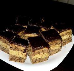 Kávékrémes diós csoda Hungarian Desserts, Hungarian Recipes, Diabetic Recipes, Diet Recipes, Dessert Recipes, Poppy Cake, Confectionery, Tiramisu, Food To Make