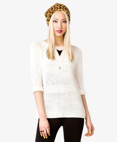 Open-Knit Sweater   FOREVER21 - 2026634724