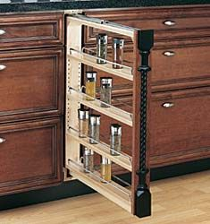 "The Hardware Hut - Product #RAS-432-BF-6C - Rev-A-Shelf Wood Classics 6"" (152mm) Base Cabinet Filler Organizer"