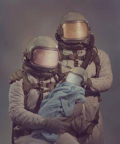 Astronaut family portrait.