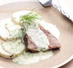 Koprovka Czech Recipes, Russian Recipes, Ethnic Recipes, Modern Food, Main Meals, Camembert Cheese, Mashed Potatoes, Vegetarian, Breakfast