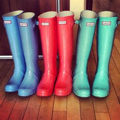 colorful Hunter Wellington Boots !! Love!