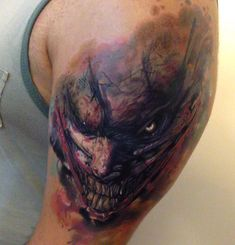 Evil Joker Tattoo http://tattooideas247.com/scary-joker/