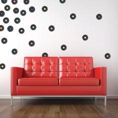 Vinyl Records Mini-Pack Wall Decals
