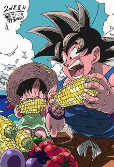 Grandpa Goku and Pan♡^^ favourite little girl♡^^ Manga Art, Manga Anime, Anime Art, Dragon Ball Gt, Akira, Ball Drawing, Hxh Characters, Dragon Quest, Fanart