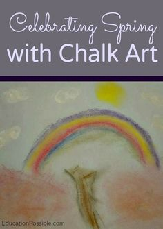Chalk art is an amazing medium for teens. It's an easy, inexpensive way to add art to your homeschool. I haven't found a season that doesn't work well with chalk pastels, but I really love how the beauty of spring can be depicted with them.
