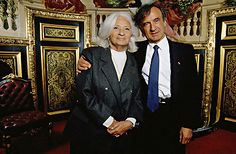Elie Wiesel with his wife Marion, at the opening of the Academie Universelle des Cultures in Paris, France, Elie Wiesel, French History, Lest We Forget, Photo Credit, Marriage, Culture, Paris France, Countryside, Teaching