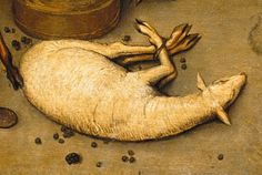 Pieter Bruegel the Elder, Detail from Netherlandish Proverbs, To be as gentle as a lamb, Someone who is exceptionally calm or gentle Pieter Bruegel The Elder, Renaissance Paintings, Classical Art, Proverbs, Livestock, Detail, Masters, Lamb