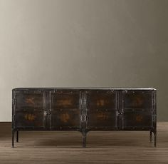 Industrial Tool Chest Console - and I think I found the one. Industrial, Metal Console, Restoration Hardware, Rustic Table, Sideboard Console, Living Room Tv Stand, Shelving, Tv Furniture, Home Furnishings