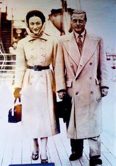 "Edward Prince of Wales ""David"" & Wallis Simpson, later Duke & Dutchess of Windsor, On the move."