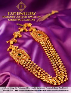 Gold Necklace.. Perfect for this festive season!!  Price - 17500/-  Place your order by sending us an email to justjewellery08@gmail.com