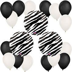 Zebra - Bridal Shower Balloon Kit #bridalshowerballoons #BigDot #HappyDot
