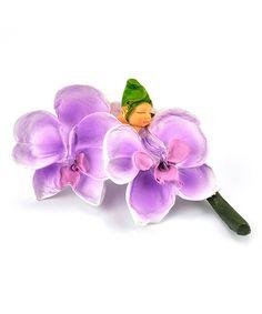 Loving this Orchid Flower Baby Figurine on #zulily! #zulilyfinds
