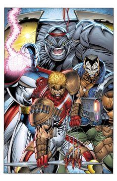 Youngblood Maximum Edition Cvr by on DeviantArt Comic Book Artists, Comic Book Characters, Comic Character, Comic Books Art, Macross Anime, Rob Liefeld, Comic 8, Superhero Villains, Comics Universe