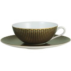 Raynaud Tresor Brown Saucer ($88) ❤ liked on Polyvore featuring home, kitchen & dining and raynaud