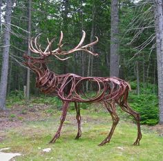 """Wendy Klemperer, Large Calling Elk, Sculpture 132 X 120 X 72\"""" . Check out who else has applied to West Collects 2012 and discover more great artists at westcollects.com."""