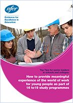 Via How to provide meaningful experience of the world of work for young people as part of 16 to 19 study programmes Young People, Public, College, Study, How To Plan, World, School, Tips, The World