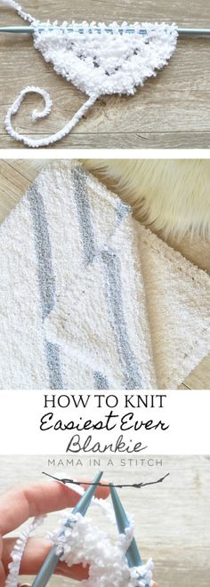 How To Knit the Easiest Baby Blankie - Luxe Blankie Knitting Pattern – Mama In A Stitch