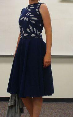 bloomer's dress. handstitched a la alabama chanin.