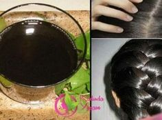 No hair dye! With this black water, your white hair … – Hair Care Ideas Hair Color For Black Hair, White Hair, Dark Hair, Dyed Natural Hair, Natural Hair Styles, Prevent Grey Hair, Braid Crown Tutorial, Hair Starting, Black Water