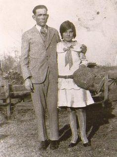 Edgar Gaylon Dollins with his wife Elsie Edna Williams-Dollins, on their Wedding Day
