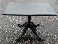 I made this myself!  1940's antique coffee table painted in Graphite chalk paint.
