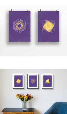 Inspirierende Wandbilder in lila