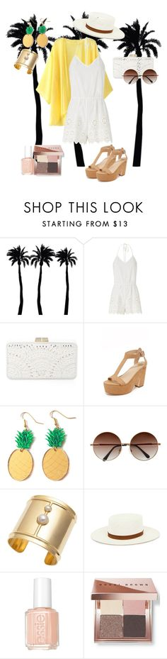 """ROMPERS"" by vicjerphy ❤ liked on Polyvore featuring Dot & Bo, Miguelina, BCBGMAXAZRIA, Loeffler Randall, Edge of Ember, Edit, Essie and Bobbi Brown Cosmetics"
