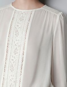 Blouses for women – Lady Dress Designs Kurta Designs, Blouse Designs, Blouse Styles, Mode Inspiration, Modest Dresses, Shirt Blouses, Lace Shirts, Festivals, Blouses For Women