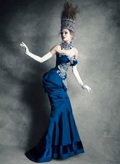 the girl in the blue dress                                 Jac Jagaciak by Patrick Demarchelier / Christian Dior Couture Book