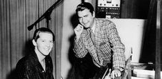 Jerry Lee Lewis with Sam Phillips at Sun Studios