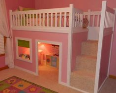 Great idea for a little girl's bed.
