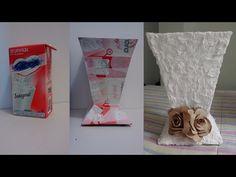 Como fazer vasos com caixa de leite - passo a passo! - YouTube
